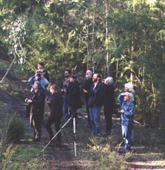 BICA members at the 100th monthly bird survey.